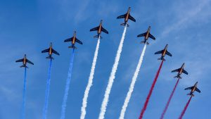 french airplanes celebration