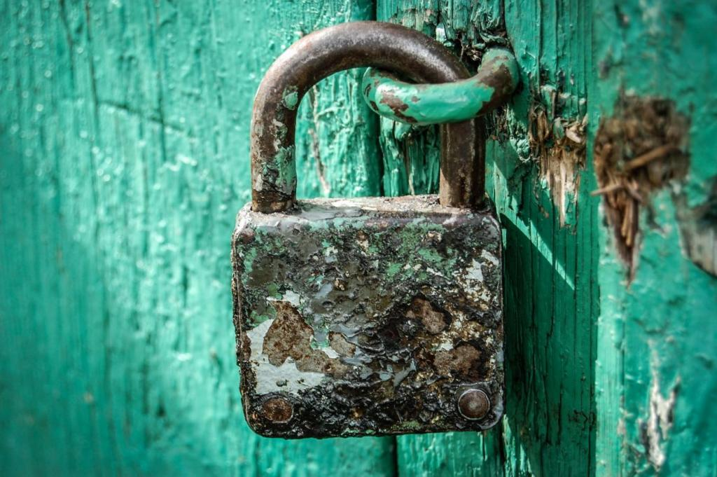 lock old texture rusted with time